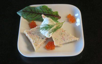 Skaldjursterrine eller avokado med tångkaviar