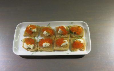 Snittar med forellrom eller tångkaviar