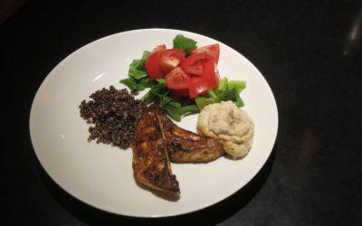 Ugnsrostad selleri med bönröra och quinoa