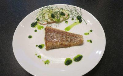 Stekt torsk med fänkålsolja